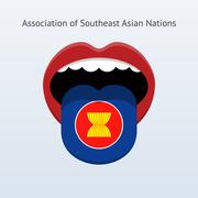 Association of Southeast Asian Nations language. Stock Illustration