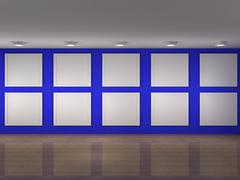 Stock Illustration of a illustration of a museum with frames