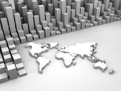 Illustration of stock trade around the world Stock Illustration