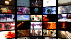 Business media screens Stock Footage