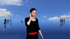 Composited green screened business actors ideal for recruitment or general - stock footage