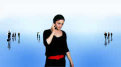 Composited green screened business actors ideal for recruitment or general Stock Footage