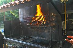 Giant barbecue to have fun Stock Photos