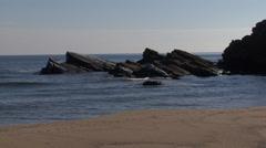Stock Video Footage of Pure sea rocky coast