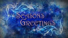 Seasons Greetings Filigrees Stock Footage