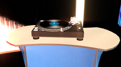 Retro Dancing with Working Turntable Stock Footage