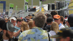 Fans at Circuit of the Americas Time Lapse Stock Footage