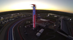 Tower at Circuit of The Americas Aerial Stock Footage