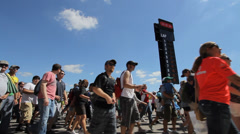Time Lapse crowds at Circuit of the Americas Stock Footage