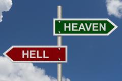 Heaven versus hell Stock Photos