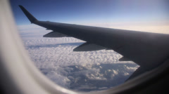 View from airplane window Stock Footage