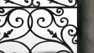 Stock Video Footage of ornate gates with wall pan