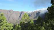 Stock Video Footage of la caldera de taburiente, La Palma, Canary Islands, Spain