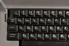 Dirty old typewriter Stock Photos