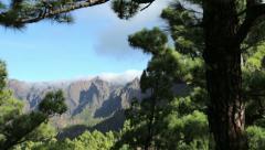Stock Video Footage of la caldera de taburiente, La Palma, Canary Islands, Spain