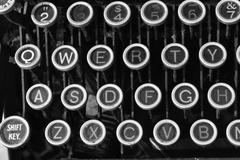 antique typewriter qwerty ix - stock photo