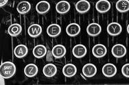 Stock Photo of antique typewriter qwerty ix