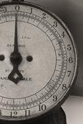 antique food scale - stock photo
