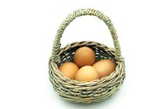 Stock Photo of carrier basket with eggs