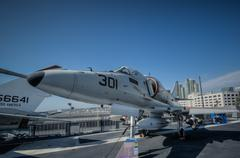 jet 301 on carrier san diego - stock photo
