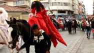 Stock Video Footage of Festive parade in Cuenca
