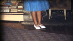 Vintage  movies 8mm, School prom Stock Footage