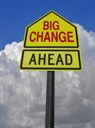 big change ahead roadsign - stock photo