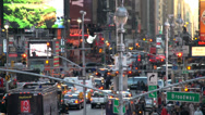 Stock Video Footage of Aerial view of Times Square (3 of 6)