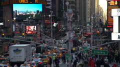 Aerial view of Times Square (5 of 6) Stock Footage
