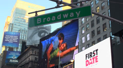 Stock Video Footage of Broadway street sign (1 of 2)