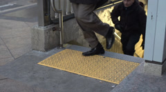 Subway entrance (8 of 12) Stock Footage