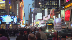 Slo-mo of massive crowds in Times Square (10 of 16) - stock footage