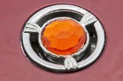 orange gem - stock photo