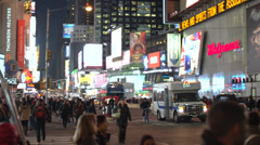 Marvelous nighttime New York City intersection (4 of 5) - stock footage