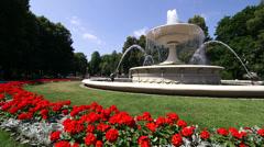 Warsaw, Poland, Saski Park, July 2013 Stock Footage