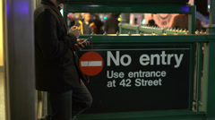 Subway entrance (9 of 12) Stock Footage