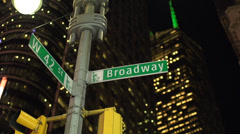 Stock Video Footage of Broadway street sign (2 of 2)