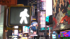 Stock Video Footage of Times Square crosswalk sign (4 of 4)