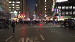 Head-on view of city traffic (1 of 3) - stock footage