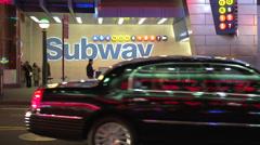 Neon subway lights (1 of 2) Stock Footage