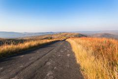 Road Landscape Wilderness Colors - stock photo