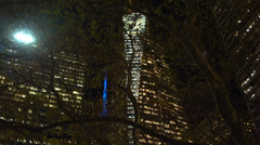Stock Video Footage of Bryant Park at night (1 of 2)