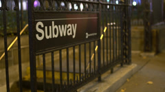 Subway entrance (3 of 12) Stock Footage