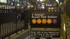 Subway entrance (2 of 12) Stock Footage