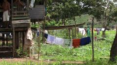 Village Amazon Rain Forrest Stock Footage