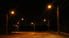 Night Driving in the city - stock footage