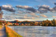 Stock Photo of HDR Picture - Aare River and the Bridge