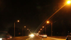 Night Driving in the City Stock Footage