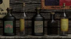 Old West Cowboy Bar Map Gun 3D Animation - stock footage