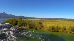 River loisach near kochel am see Stock Footage